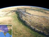 人工衛星から見たヒマラヤ山脈