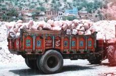 岩塩運搬トラック